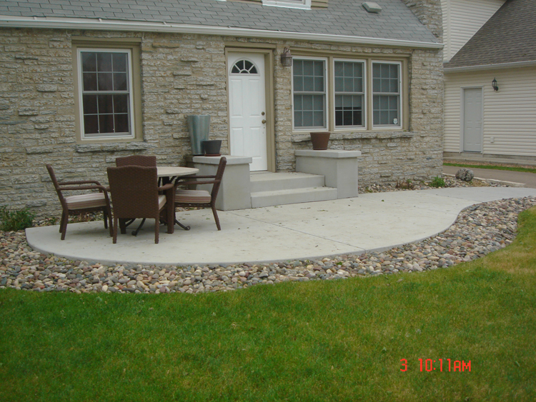 footings for concrete patios that may be built upon are required to be