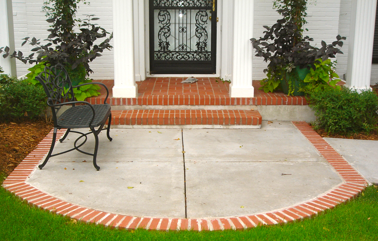 patio designs steps